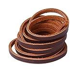 Xiazw Leder Schnürsenkel Ledersenkel Lederriemen für Bootsschuhe Arbeitsstiefel,Ein Paar (Kaffee)