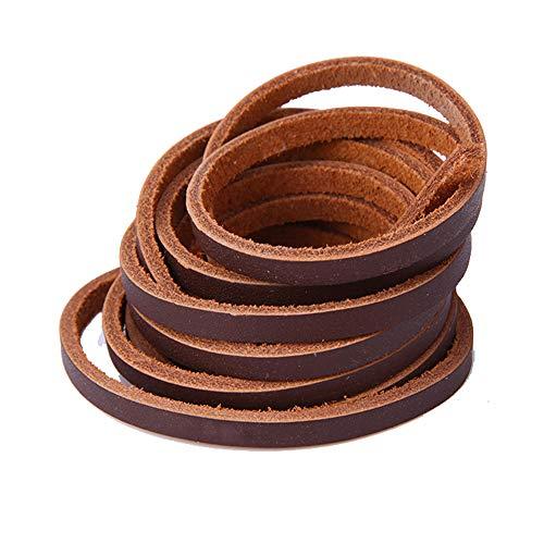 Schn/üre Lederb/änder Langlauf Schuhbedarf Lederiemchen Lederriemen rund 100 cm dunkelgr/ün