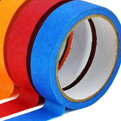 TradeGear Colored Masking Tape 7 Pk – 1 Inch x 15 Yards (45 Ft) - Rainbow Color General Purpose Craft Paper Tape – Perfect for Art, Labeling, Color Code, Classrooms, Painters, Kids, Home, Office, DIY Photo #6