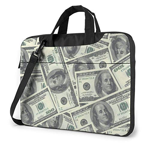 XCNGG Shockproof Laptop Bag 100 Dollar Bills Computer Bag Durable Laptop Briefcase Cushion Protective Case Sleeve