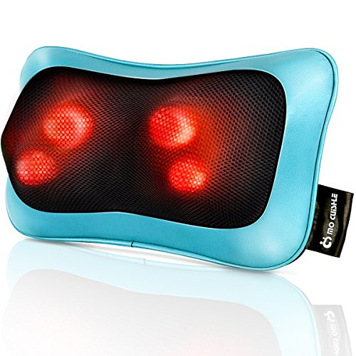 Shiatsu Neck Back Massager Pillow with Heat, Deep Tissue Kneading Massage for Back, Neck, Shoulder, Leg, Foot, Perfect Gift for Men Women Mom Dad, Stress Relax at Home Office and Car