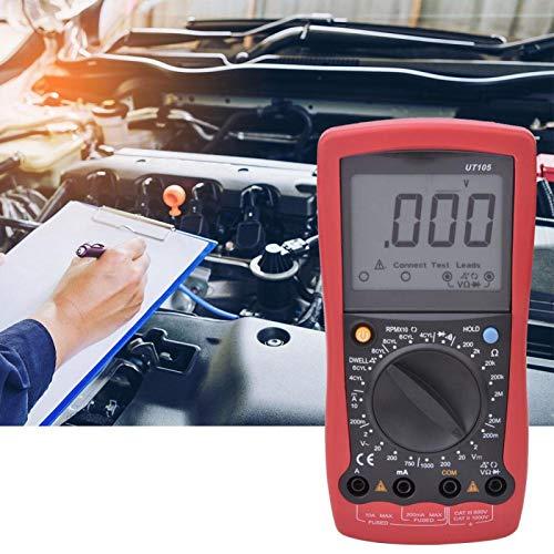 Oumefar Multímetro automotriz Multímetro Digital LCD Profesional Resistencia CC Digital Probador de Voltaje/Corriente portátil para Laboratorio para la Industria