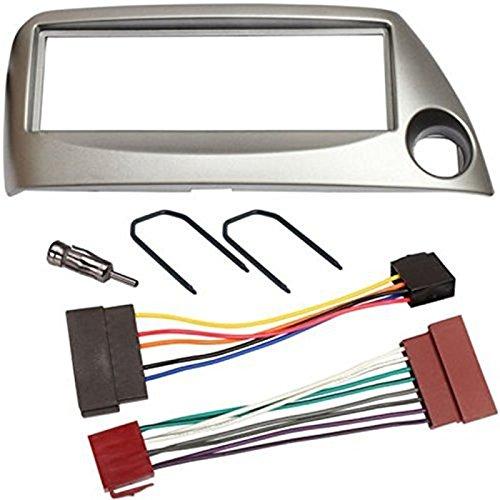 Sound-way Kit Montaggio Autoradio, Mascherina 1 DIN, Cavo Adattatore Connettore ISO, Adattatore Antenna, Chiavi di Smontaggio, compatibile con Ford Ka