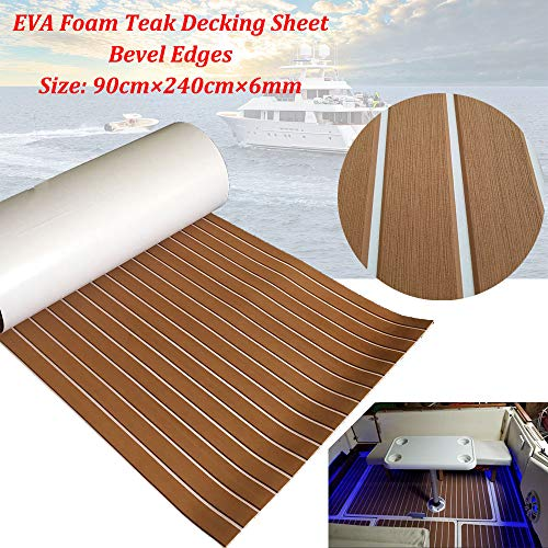 yuanjiasheng Second Generation Upgrade EVA Faux Teak Decking Sheet for Boat Yacht Non-Slip 94.5