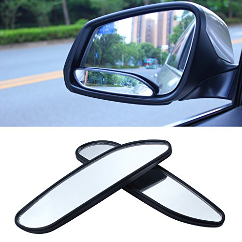 EFORCAR(R 2PCS Car Mirror Side View Blind Spot & Wide Mirror Stick on Auxiliary Angle Adjustable