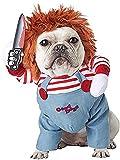 Disfraces for perros 2020Deadly miedo muñeca del perro ropa de Halloween Cosplay del traje del perro...