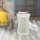 Safavieh Camilla Ceramic Decorative Garden Stool, Cream