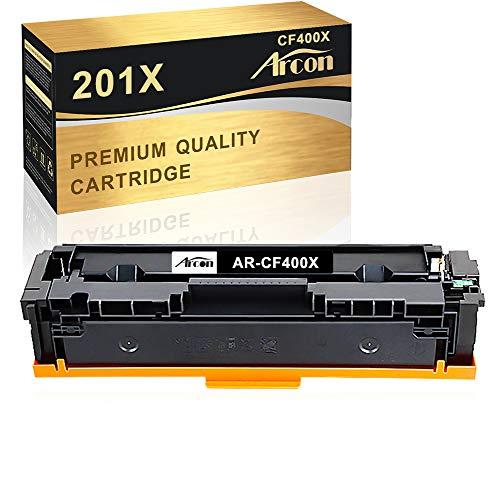 Arcon Kompatibel Toner Cartridge Replacement für HP 201X 201A CF400A CF400X für HP Color Laserjet Pro MFP M277 M277DW M277N M277 DWN M252 M252DW M252N Laser Drucker Toner-Schwarz 1-Pack