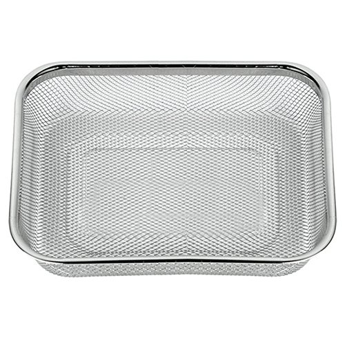 Space Home - Colador de Cocina Rectangular- Escurridor - Malla Fina - Acero Inoxidable