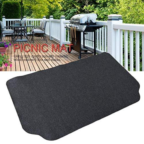 Grill BBQ Matte Grillteppich Grillschutzmatte Outdoor Bodenschutzmatte, Waschbar Anti-Öl Umweltschutzmatte, Für Camping, Picknick
