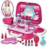 Buyger Maletin Maquillaje Niñas Juguete Belleza y Joyería Peluqueria para Princesa Niños 3 años