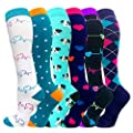 1/3/6 Pairs Compression Socks (20-30mmHg) for Women&Men-Best for Running,Cycling,Sports,Nurse,Warm