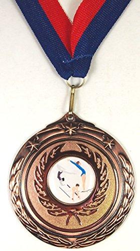 Gimnasia medalla 67mm con cinta (bronce)
