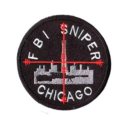 Patch Bordado - Policia Federal Sniper FBI Chicago PL60031-98 Fecho de Contato