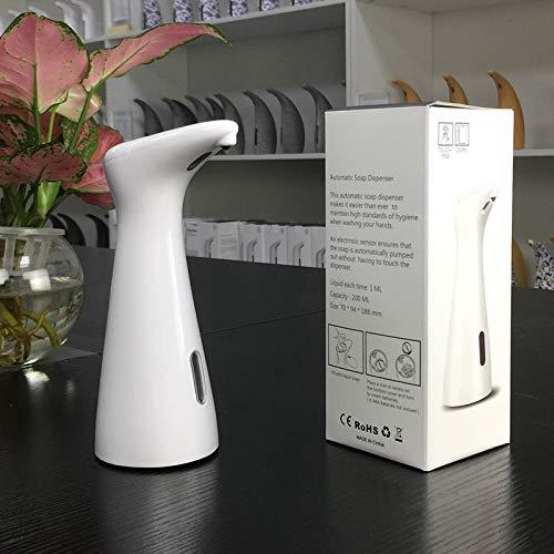 OURLITIME Dispensador de jabón automático de 200 ml, máquina de desinfección de manos, dispensador de jabón por infrarrojos portátil para el hogar, oficina, hotel, hospital, CE