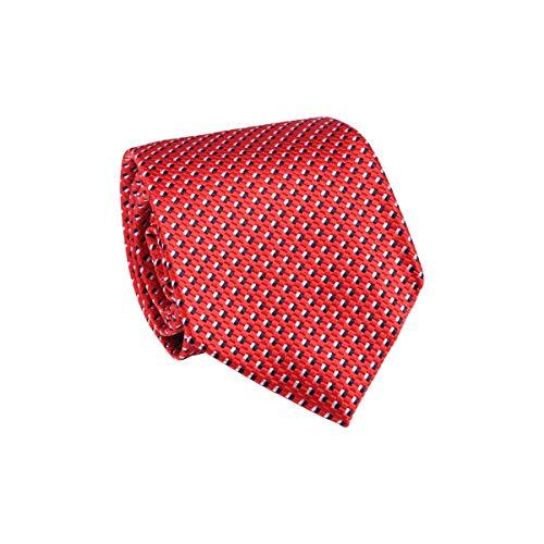 TIE RACK - Corbata tricolor 100% seda rojo Talla única