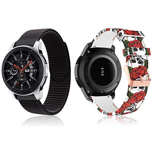 TOPsic Bracelet Gear S3 Frontier/Classic/Galaxy Watch 46mm/Moto 360 2nd Gen 46mm/Huawei Watch 2 Classic/Ticwatch Pro, 22mm Bande de Remplacement en Acier Inoxydable Métal