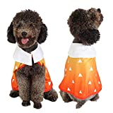 Coomour Cute Dog Costume Pet Funny Anime Cloak Cartoon Costume Cute Cat Cosplay Cape for Small to Large Dogs Cats Clothes (Medium, Orange)