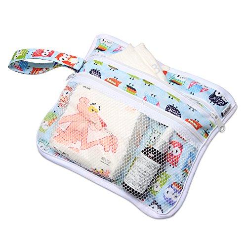 LUXJA Luxja 防水オムツ替えシート ポケット付き 持ち運びカンタン 外出用 家用 かわいいフクロウ
