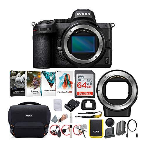 Nikon Z 5 Mirrorless Digital Camera Body Only Bundle (5 Items)