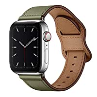 "Fit Size: Compatible with Apple Watch 40mm 38mm ALL Models, including: Series 6 / Series 5 / Series 4 / Series 3 / Series 2 /Series 1 / SE / Sport. Fit for 6.32""-8.27""(160mm-210mm) wrist. Superior Quality: 100% Genuine Leather Band. Premium soft top ..."