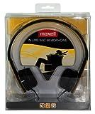 Maxell HP MIC - Auriculares de diadema cerrados, negro