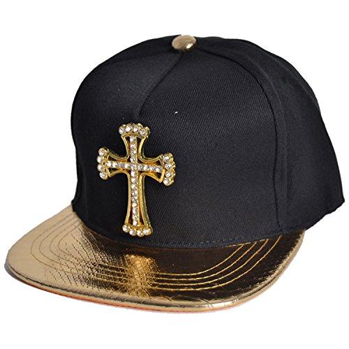 Belsen Unisex Cortical Kreuz Baseball Cap Trucker Hat (golden)
