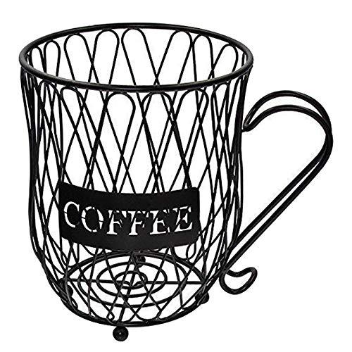 Fenteer Support de panier de stockage de Coffee Pod support, Vintage fil de fer Coffee Pod organisateur pour Home Cafe Hotel