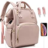 Diaper Bag for Baby Girl Backpack Bags Girls Mom Women Womens Pink Back Pack Multifunction Travel Maternity Baby, Large Capacity, Waterproof and Stylish Gift Bag Tassel (1.Pink)