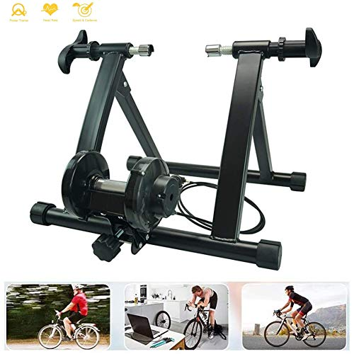 Bike Trainer Stand, 7 Level Resistance Magnetic Fiets Trainer, Fixed Gear Trainer Voor Oefening Fitness for 26 '' - 29 '' En 700C Wielmaten Road En Mountainbikes Rollen,Wired