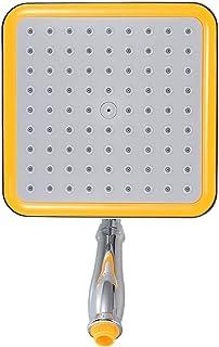 BBZZ Pomme de douche de salle de bain haute pression chromée carrée à effet pluie Pochette de douche économiseur d'eau
