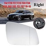 WENJING Sinistra/Destra grandangolare riscaldato in Vetro Specchio Adatto per BMW F20 F22 F23 F30 F34 F36 F48 F40 F34 F36 F48 F45 F31 F87 2010 2011 2012 2013 2013 2016 (Color : Right)