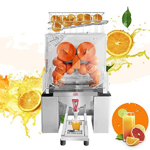 Pro Commercial Juicer, 110V 120W Automatic Commercial Orange Juicer Machine Electric Juice Squeezer Lemonade Making Machine for Fresh Fruit Vegetable, 20 pcs/min (with Faucet)