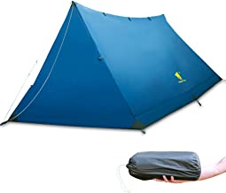 Geertop 2-3 Person Lightweight Trekking Pole Tent Waterproof Outdoor Tents for Camping, 3 Season Pole Tent Backpacking Hiking Travel - Easy to Set Up