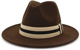 2019 Mens Womens Hats Womens Winter Fedora Hat for Women Lady Beach Hat Travel Wide Brim Wool Outback Elegant Lady Floppy Cloche Wide Brim Jazz Church Godfather Sombrero Cap