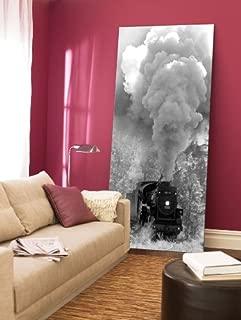 Startonight Canvas Wall Art Steam Train, Retro USA Design for Home Decor, Dual View Surprise Artwork Modern Framed Ready to Hang Wall Art 23.62 x 47.2 Inch 100% Original Art Painting