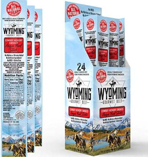 Wyoming All Natural Grass Fed Beef Sticks Bulk Nitrate Free Jerky Meat Stick No Artificial Ingredients product image