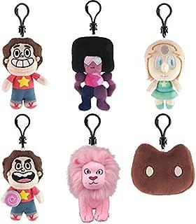 Steven Universe Plush Clip-Ons Set of 6 includes: Pink Lion , Cookie Cat , Steven with sheild , Pearl , Garnet & Steven