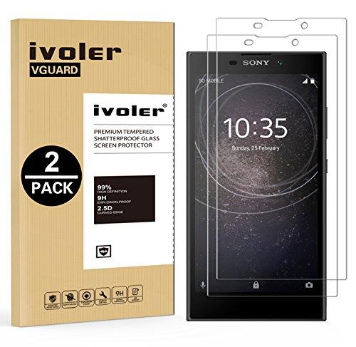 ivoler [2 Stücke] Panzerglas Schutzfolie für Sony Xperia L2 [9H Festigkeit] [Anti- Kratzer] [Bläschenfrei] [2.5D R&e Kante]