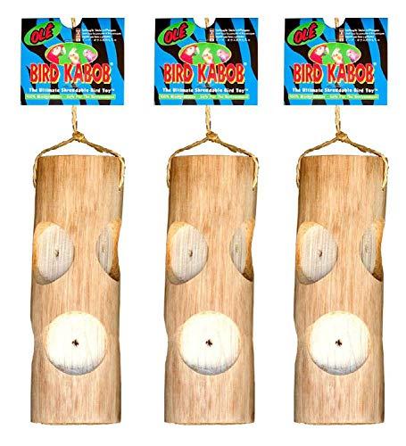PETGARD 3er Sparpack Vogelspielzeug Ole Bird Kabob ideal für Sittiche und kleine Papageien