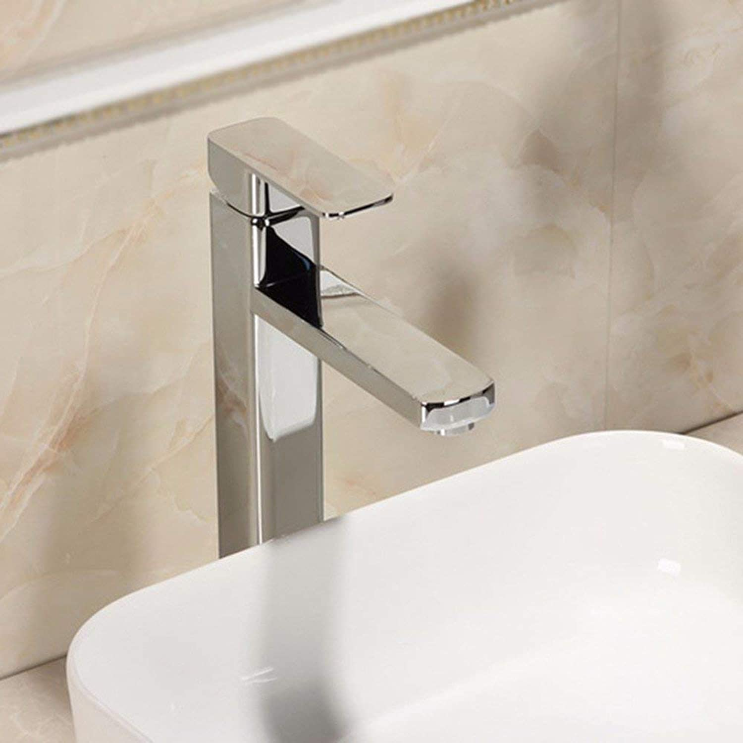 Hhgold Kitchen bathroom single handle single hole stainless steel sink faucet
