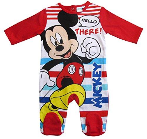 Mickey Mouse Kollektion 2018 Strampelanzug 62 68 74 80 86 92 Strampler Einteiler Maus Disney Rot (Rot, 80-86)