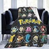 Poke-Mon Pi-ka-chu Blanket Flannel Winner Super Soft Plush Fleece Throw Blanket Home Bed Sofa for Adults and Teens 60'X50'