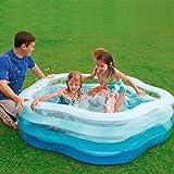 Piscina inflable familiar de 150 a 305 cm. Piscina inflable para adultos y niños. Piscina inflable con bolsa de aire independiente en capas, apta para fiestas de verano de 1 a 7 personas