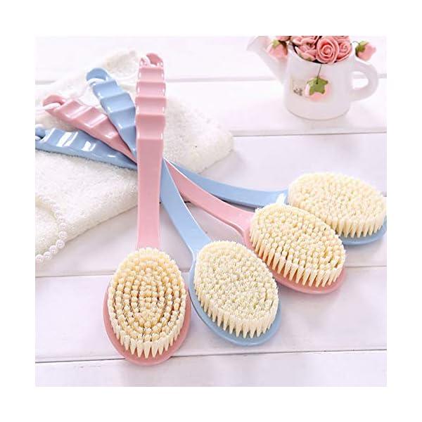 1 cepillo de ducha de plástico con mango largo exfoliante cepillo de baño trasero cepillo piel masaje cuerpo ducha…