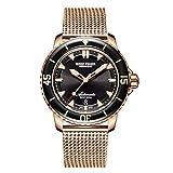 Reef Tiger Marca de lujo reloj automático hombres luminoso masculino dorado reloj de buceo impermeable 200m RGA3035