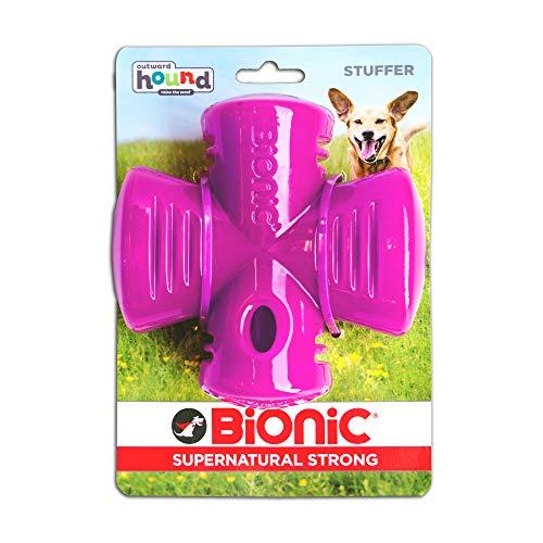 Outward Hound Bionic Stuffer Hundespielzeug zum Apportieren und Kauen, OS, violett