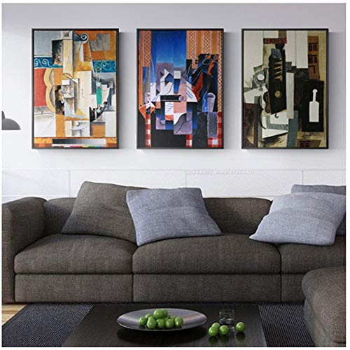 Canvas kunst aan de muur abstract schilderij gitaar foto's voor de woonkamer slaapkamer home decor posters en prints op canvas-50x80cm geen frame