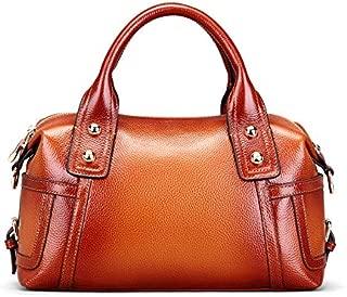 Vintage Leather Tote Women's Leather Pillow Case Bag Retro Ladies Handbag Shoulder Crossbody Bag(FM)