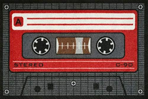 for-collectors-only Fußmatte Tape Rot Kassette Fussmatte Cassette Schmutzmatte Türabstreifer Türmatte Fußabstreifer Schmutzfangmatte Retro Design